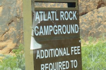Atlatl Rock Campground Sites Overview