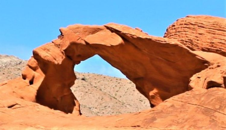 arch rock at valley of fire